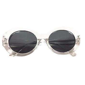 4becfa323b911 WOCACHI Women Sunglasses Father s Day Gift Goggles Unisex Rapper Oval  Glasses