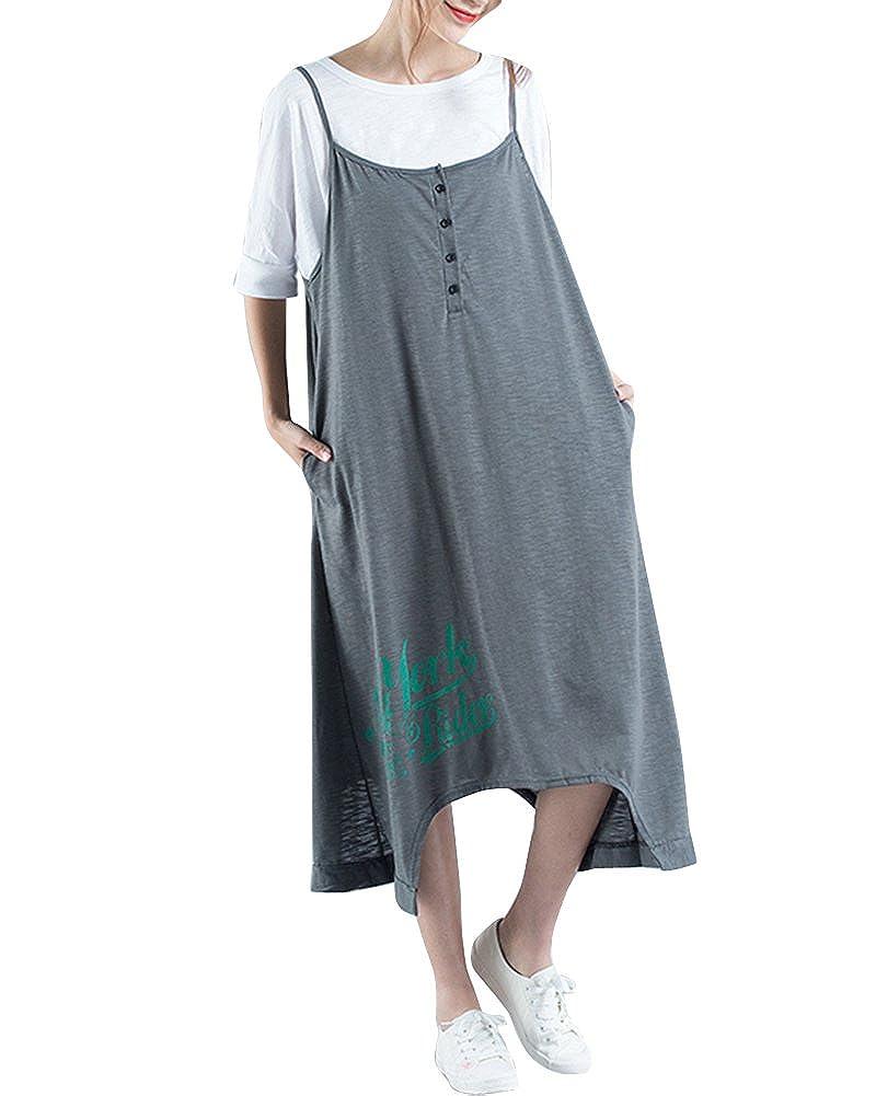 Quge Damen Hosenträger Kleider Elegante Lockere Lässige ...