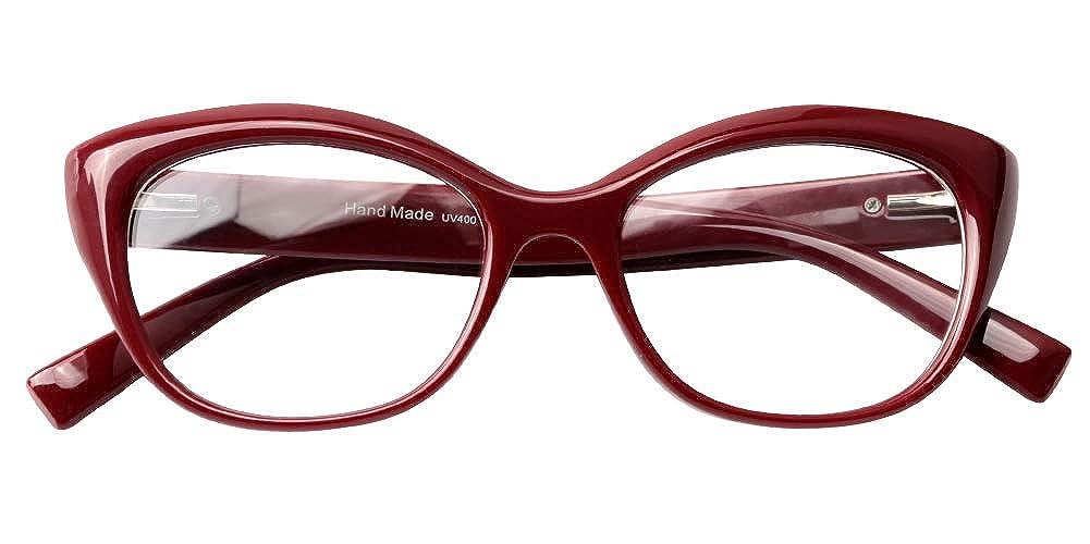 SOOLALA Womens Mens Spring Hinged Reading Glass Prescription Eyeglass Frame