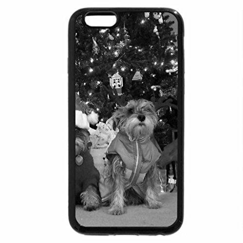iPhone 6S Plus Case, iPhone 6 Plus Case (Black & White) - Christmas dogs