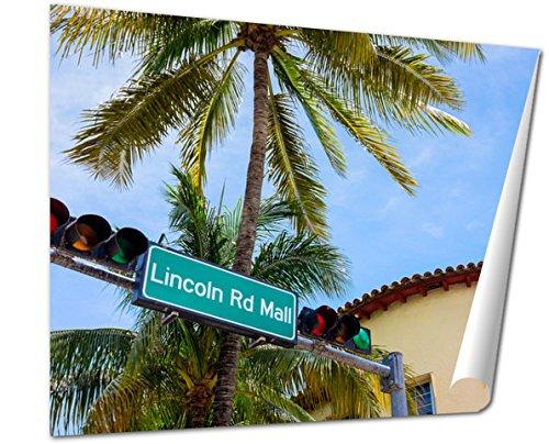 Ashley Giclee Fine Art Print, Miami Beach, 16x20, - Miami Mall Downtown