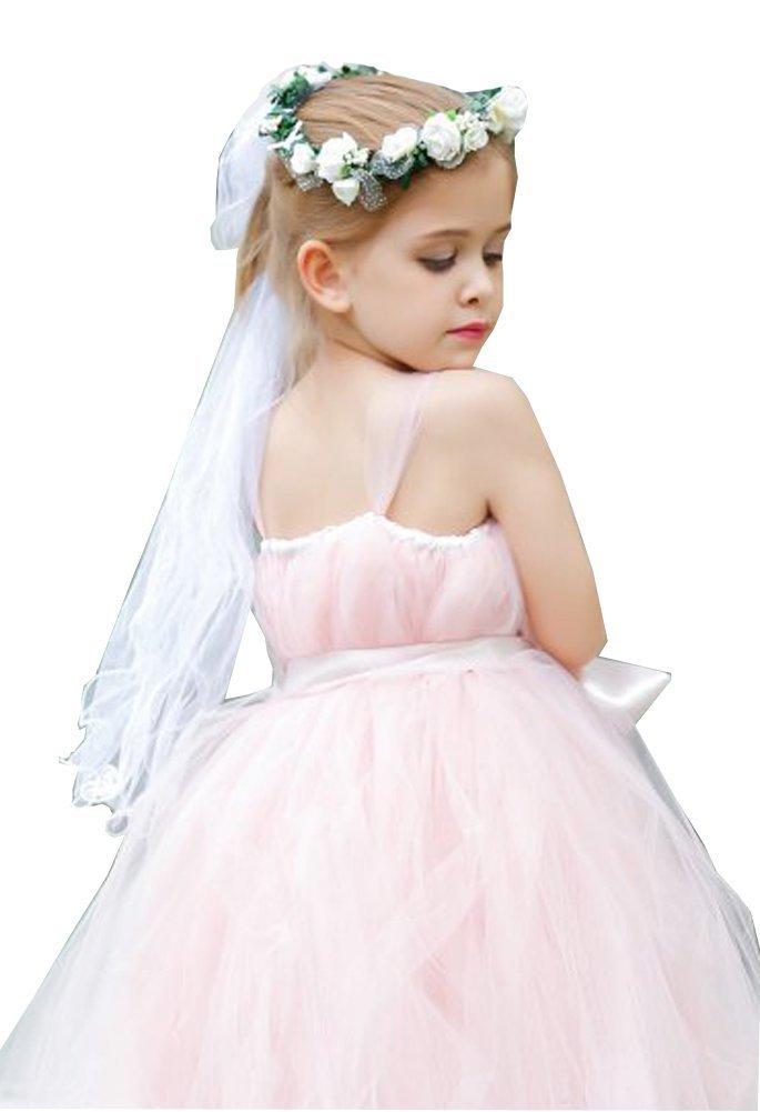 Wedding Flower Wreath Veil Girl Halo Crown Flowers Leaf Headpiece Headband Garland for Hair Accessories Boho