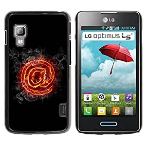 Planetar® ( Flaming At ) LG Optimus L5 II Dual E455 / E460 / Optimus Duet Fundas Cover Cubre Hard Case Cover