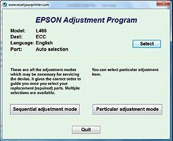 Adjustment Program Resetter Multi PC Compatible With Epson L405