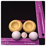 2 Golf Ball Fondant Mold Set Chocolate Candy Gumpaste Soap Resin Clay
