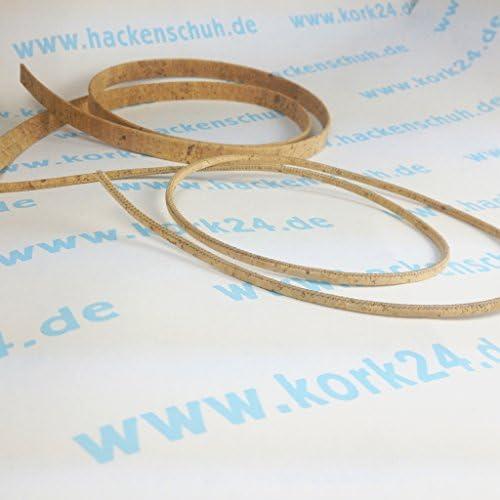 EKB-Korkband Harmonie Natur 10mm Veganer Leder-Ersatz, 1m Länge