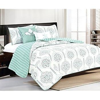 amazon   laura ashley brompton serene reversible quilt