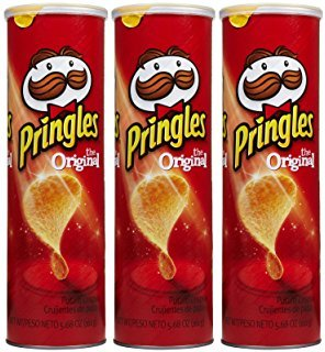 Pringles Original Potato Crisps Chips 5.2 oz. (Pack of 3 Cans)