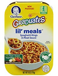 Gerber Graduates Lil' Meals, Spaghetti Rings in Meat Sauce, 6 Ounce (Pack of 6) BOBEBE Online Baby Store From New York to Miami and Los Angeles