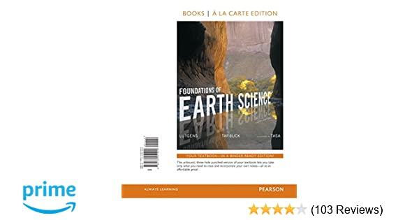 Amazon foundations of earth science books a la carte edition amazon foundations of earth science books a la carte edition 8th edition 9780134251929 frederick k lutgens edward j tarbuck dennis g tasa fandeluxe Choice Image