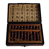 Aging Treatment Vintage Wooden Bead Arithmetic Abacus Chinese Calculator SP-01