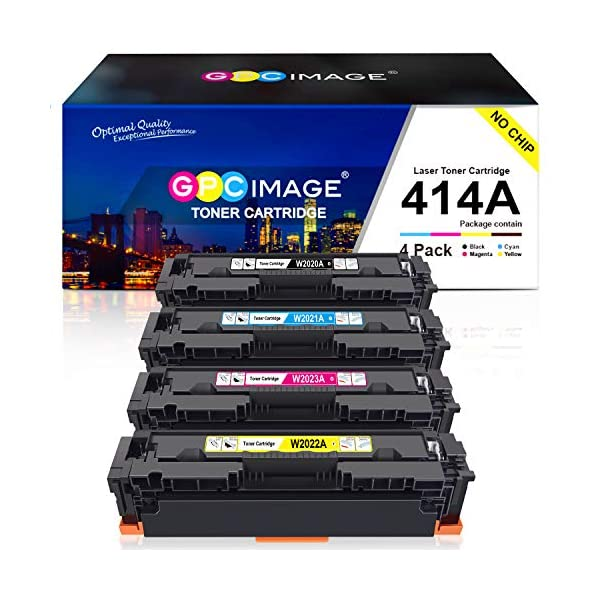 HP color toner cartridges 414A by GPC