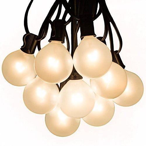White Globe Patio Lights in US - 8