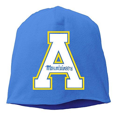 YUVIA Appalachian State University Men's&Women's Patch Beanie Mountain ClimbingRoyalBlue Caps For Autumn And Winter -