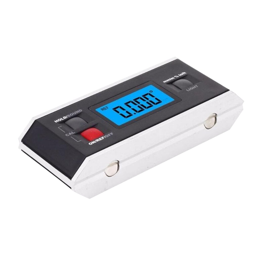D DOLITY Portable Digital Protractor Angle Finder Level Inclinometer 0~360 Degree for metal wood LCD Backlight Built-in