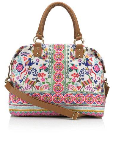 Accessorize Womens Can Can Folk Weekender Bag