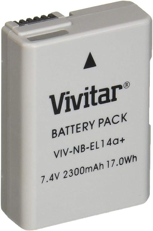 Vivitar EN-EL14/EN-EL14 a Ultra alta capacidad 2300 mAh batería de ...