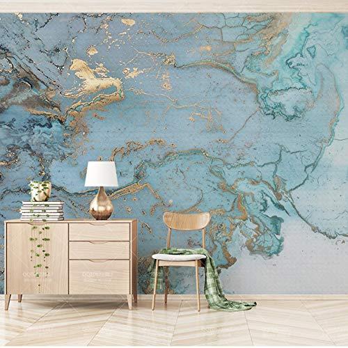 VVNASD 3D Aufkleber Wand Wandbilder Tapete Dekorationen Retro Blaues Bronzing Luxusbeschaffenheits Wohnzimmer Schlafzimmer Sofa Decoration Kunst Mädchen Schlafzimmer (W) 400X(H) 280Cm