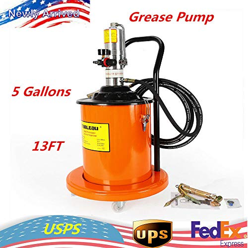 Tb-10 High Pressure Butter Machine (20L),5 Gallon Air Operated High-Pressure Grease Pump Oil Storage Hose Efficient with Gas-Pressure Meter Pneumatic High Pressure from LOYALHEARTDY19