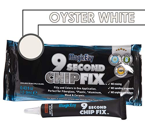 MagicEzy 9 Second Chip Fix (Oyster White) - All-In-One Fiberglass and Gelcoat Repair Kit : Fixes and Colors Fast