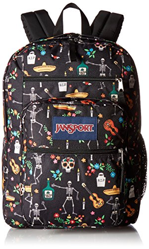 JanSport Big Student Backpack- Sale Colors (Day of the Dead) -