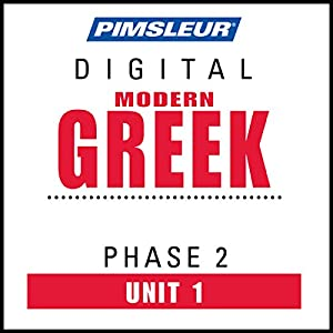 Greek (Modern) Phase 2, Unit 01 Audiobook