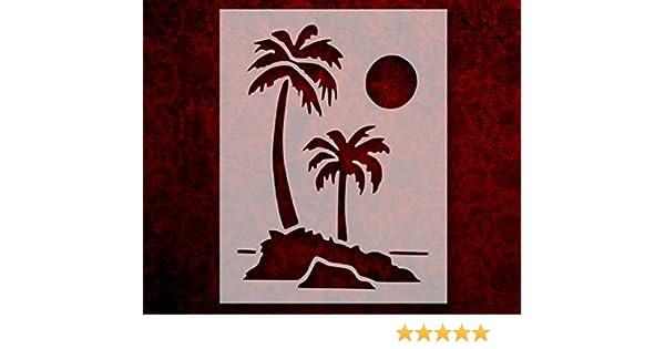Palm Trees Stencil 8.5 x 11