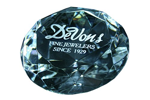 Paperweight Engraved - Custom Laser Engraved Diamond Paperweight 3 Inch Clear