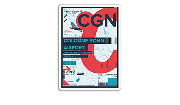 2 x 10cm Cologne Bonn Airport Vinyl Stickers Germany Sticker Luggage #17384
