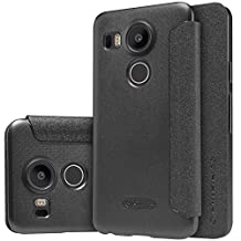 Nillkin LG Nexus 5X Sparkle Leather Case-Retail Packaging, Black