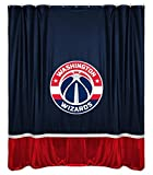 NBA Washington Wizards Shower Curtain, 72 x 72, Midnight