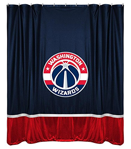 NBA Washington Wizards Shower Curtain, 72 x 72, Midnight by Sports Coverage