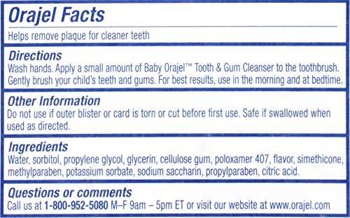 51sffsQQouL. AC - Orajel Elmo Fluoride-Free Tooth & Gum Cleanser 1.0 Oz. With Toothbrush, Banana Apple, 1 Oz.
