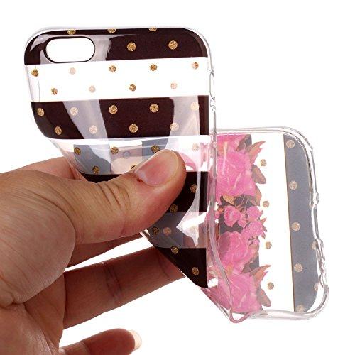 iPhone 6 / 6S Hülle rote Rose Premium Handy Tasche Schutz Transparent Schale Für Apple iPhone 6 / 6S + Zwei Geschenk