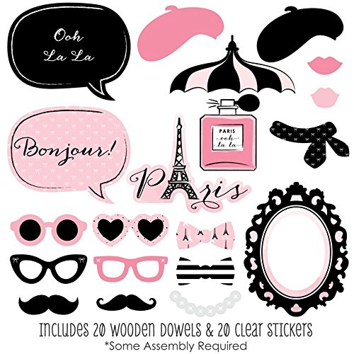 Préférence Amazon.com: Paris, Ooh La La - Paris Themed Photo Booth Props Kit  ZZ33