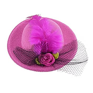 Amazon Dealmux Feather Flowers Decor Mini Top Hat Shaped