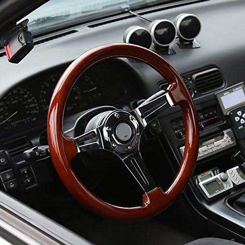Spec-D Tuning SW-112-W-SD Steering Wheel 350Mm Wooden