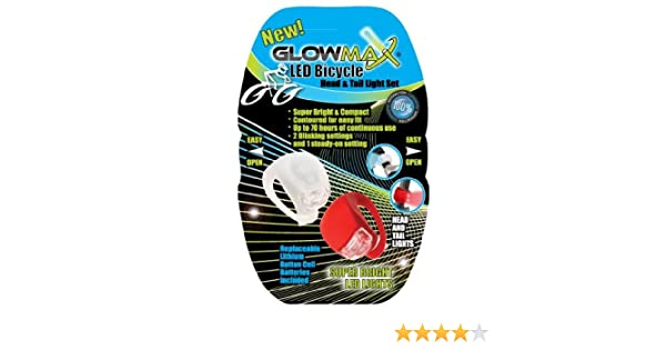Glow Max G-2BIKE-BP2 2 LED Silicon Bike Lights, Blister of 2 - - Amazon.com