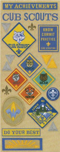 Boy Scouts Embossed Stickers - 2