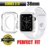 Apple Watch Case 38mm, Ultra Thin Crystal Clear Shockproof Bumper Protector iWatch Case Cover for Apple Watch Series 2 and Series 3 Great for Fitness