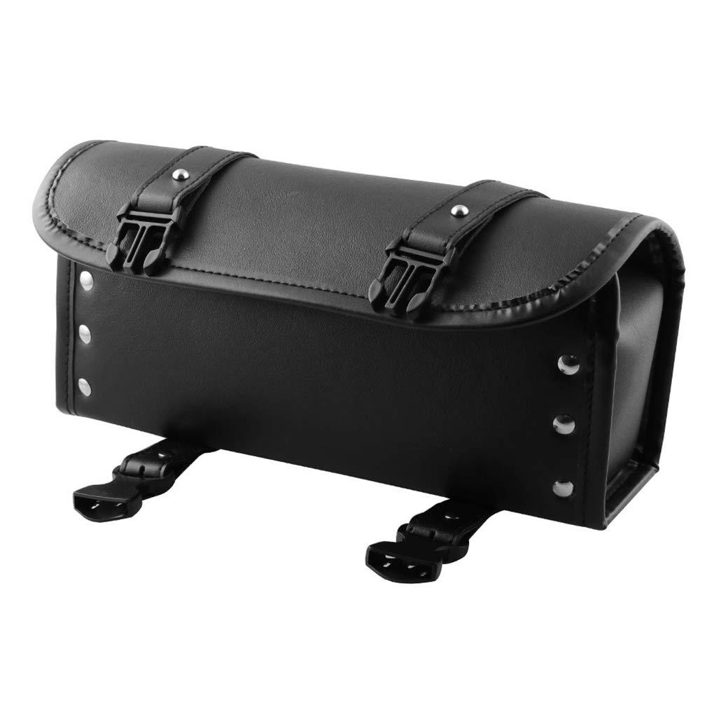 Dergtgh Universal-Motorrad-Sattel-Beutel-PU-Werkzeug-Speicher-Beutel Motorrad-Lenker Sissy Bar Werkzeugtasche