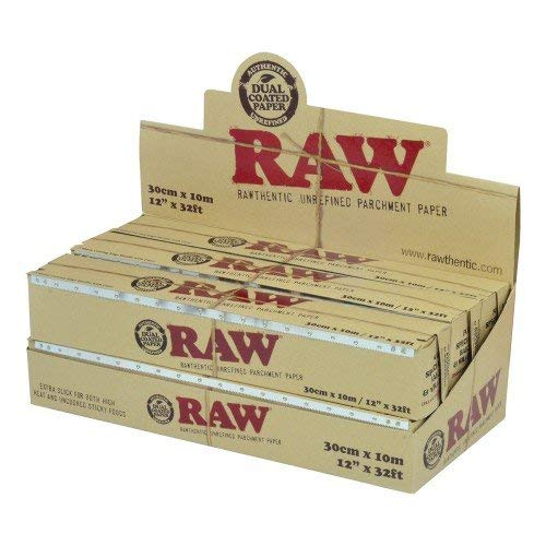 RAW Unrefined Parchment Paper Roll (6 roll display box, 300mm size)
