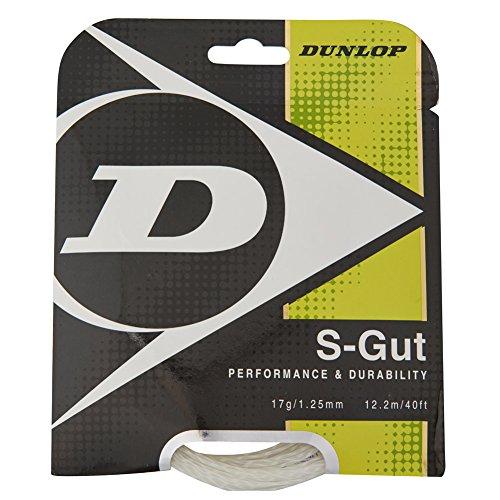 Dunlop Sports S Gut White Tennis String Set (17G)