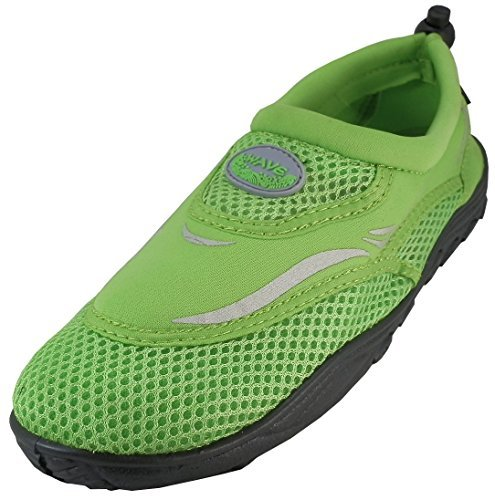 Womens Water Shoes Aqua Socks Pool Beach ,Yoga,Dance and Exercise (10, Green 1182L)
