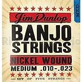 Dunlop DJN1023 Banjo Strings, Nickel, Medium, .010-.023, 5 Strings/Set