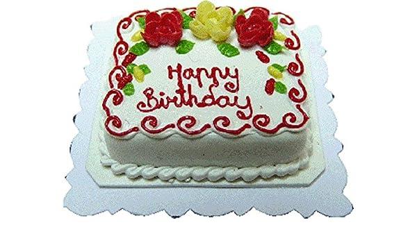 Amazon Com Bright Delights Dollhouse Miniature Happy Birthday Cake