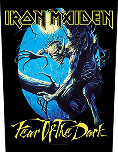 XLG Iron Maiden Fear Of The Dark Back Patch Album Art Rock Music Sew On Applique