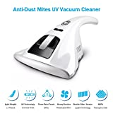 Anti-Dust Mites UV Vacuum Cleaner, ToastyH Household Handheld UV Vacuum Cleaner,Anti-Bacterial Portable with Hight Efficiency Sterilization and HEPA for Mattresses,Pillows,Cloth Sofas (White) (White)