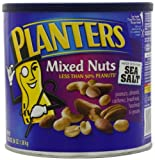Planters Mixed Nuts, Salted, 56 Ounce Canister (Pack of 2)