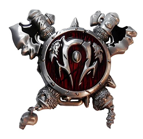 WORLD OF WARCRAFT Horde Pewter Finish Metal & Enamel BELT BUCKLE